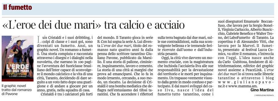 La graphic novel sul Corriere del Mezzogiorno