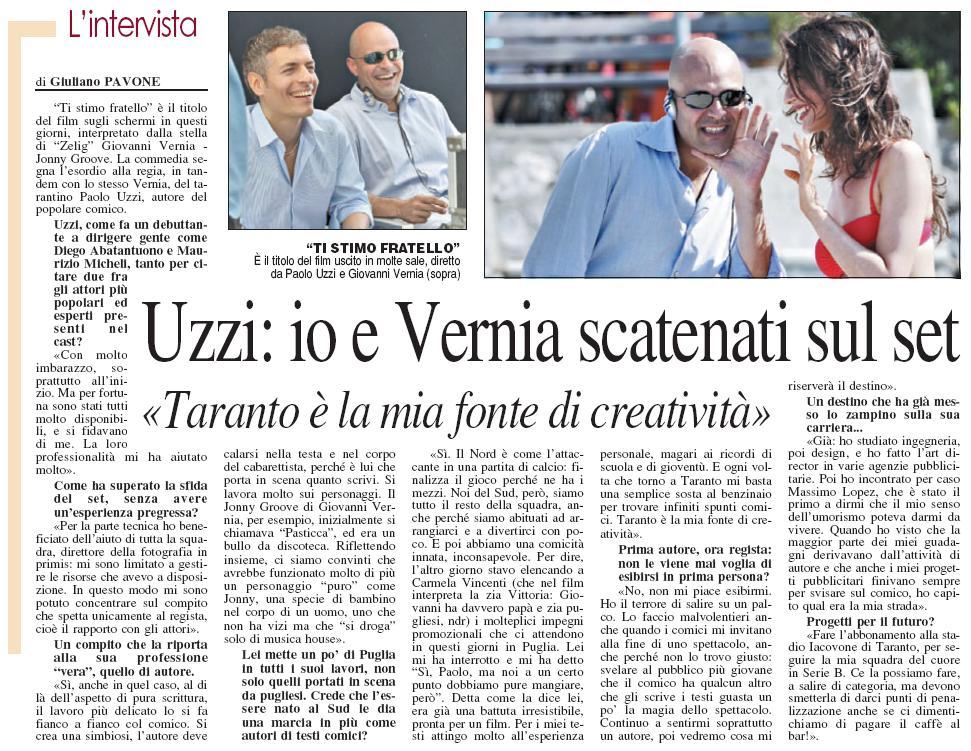 L'intervista a Paolo Uzzi