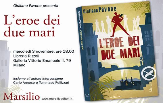 Presentazione de L'eroe dei due mari a Milano (3 novembre)
