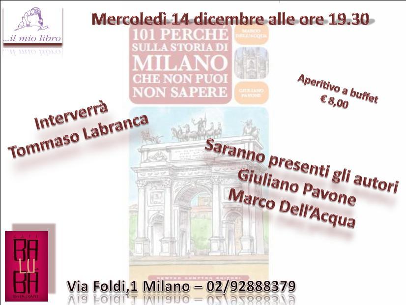 101 perché Milano: aperitivo-presentazione il 14 dicembre